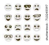 emoji emoticon expression icons ... | Shutterstock .eps vector #713245597