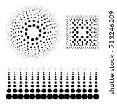halftone design elements | Shutterstock .eps vector #713246209