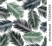 seamless tropical floral... | Shutterstock .eps vector #713246524