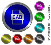 cab file format icons on round... | Shutterstock .eps vector #713248057