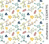 seamless pattern with branches... | Shutterstock .eps vector #713249791