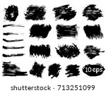 collection of vector grunge... | Shutterstock .eps vector #713251099