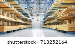 warehouse with variety of... | Shutterstock . vector #713252164