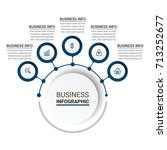 ultra modern infographic...   Shutterstock .eps vector #713252677
