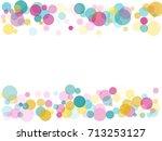 border of memphis round... | Shutterstock .eps vector #713253127