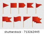 vector set of realistic... | Shutterstock .eps vector #713262445