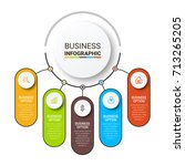 business infographic elements | Shutterstock .eps vector #713265205
