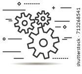 flat line design graphic image... | Shutterstock .eps vector #713268541