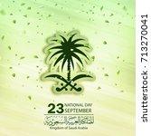 saudi arabia national day in... | Shutterstock .eps vector #713270041