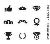 awards icons set | Shutterstock .eps vector #713276569