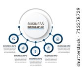 business infographic elements | Shutterstock .eps vector #713278729