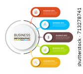 business infographic elements | Shutterstock .eps vector #713278741