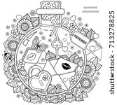 coloring for adults. vector... | Shutterstock .eps vector #713278825