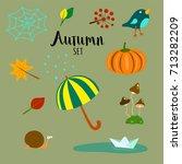 Autumn Vector Set Consisting O...