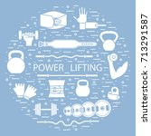 weightlifting training objects...   Shutterstock .eps vector #713291587