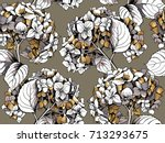 seamless pattern with a gold... | Shutterstock .eps vector #713293675