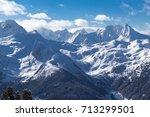 view of alps in zillertal... | Shutterstock . vector #713299501