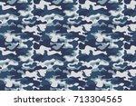 horizontal banner seamless... | Shutterstock .eps vector #713304565