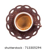 traditional cup of turkish... | Shutterstock . vector #713305294