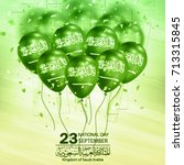 saudi arabia national day in... | Shutterstock .eps vector #713315845