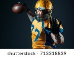 american football offensive... | Shutterstock . vector #713318839