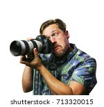 funny retro man with mustache... | Shutterstock . vector #713320015