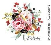 flowers bouquet | Shutterstock . vector #713320549