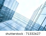 disappearing glass office... | Shutterstock . vector #71332627