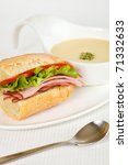 Healthy Ham Sandwich With A...