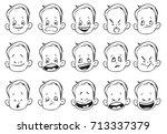 vector illustration. set... | Shutterstock .eps vector #713337379