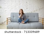 picture of a tired unkempt... | Shutterstock . vector #713339689