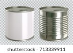 tin can mock up. 3d realistic... | Shutterstock .eps vector #713339911