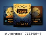 halloween backgrounds... | Shutterstock .eps vector #713340949