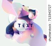 fluid poster design. abstract... | Shutterstock .eps vector #713343727