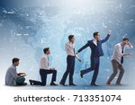 business concept with man... | Shutterstock . vector #713351074