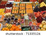 A Fresh Fruit Display At A...