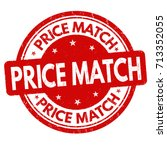 price match grunge rubber stamp ... | Shutterstock .eps vector #713352055