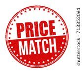 price match grunge rubber stamp ... | Shutterstock .eps vector #713352061