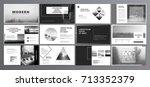 original presentation templates ... | Shutterstock .eps vector #713352379