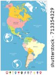north and south america... | Shutterstock .eps vector #713354329