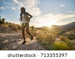 Woman Hiking At Red Rock Canyo...