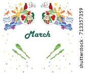 vector illustration for march... | Shutterstock .eps vector #713357359