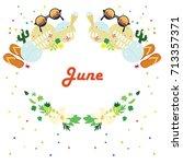 vector illustration for june... | Shutterstock .eps vector #713357371