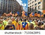 barcelona  catalonia  spain ... | Shutterstock . vector #713362891