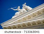 sacramento capitol building in... | Shutterstock . vector #713363041