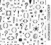 punctuation marks vector... | Shutterstock .eps vector #713369269