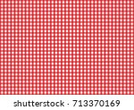 firebrick gingham seamless...   Shutterstock .eps vector #713370169