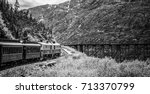 white pass mountains in british ...   Shutterstock . vector #713370799