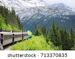 white pass mountains in british ...   Shutterstock . vector #713370835