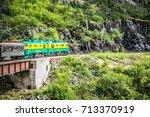 white pass mountains in british ...   Shutterstock . vector #713370919